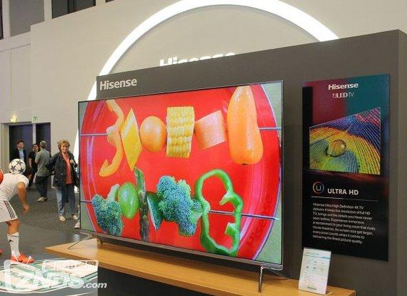 海信电视NU7700系列新品亮相德国 ULED超画质技术令人惊艳