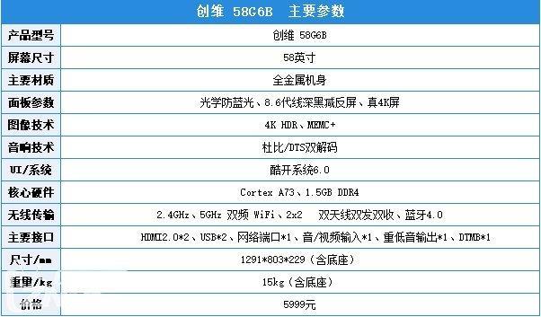 创维58G6B无蓝光液晶电视评测:行业首款无有害蓝光电视