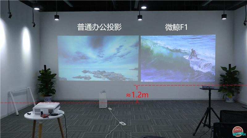 微鲸投影F1测评:细节出色,有网没网一样投!
