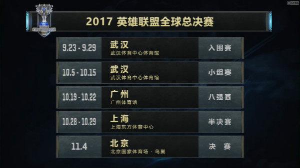 新浪微博宣布将全程直播英雄联盟2017全球总决赛