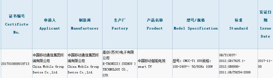 中国移动智能电视曝光!预计年底发布