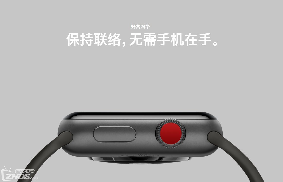 "Apple Watch Series 3蜂窝网络服务推迟至""今年稍后推出"""