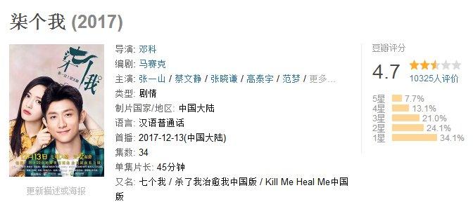 张一山《柒个我》豆瓣评分4.7!翻拍韩剧应当如何避雷