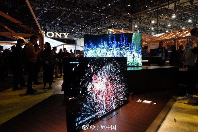 索尼新品OLED电视 A8F/液晶4K电视X900F亮相2018CES