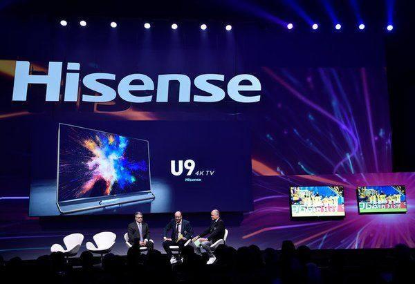 海信CES推出激光电视和U7/U9电视 用体育营销征战全球舞台