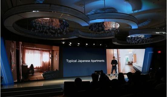百度携手极米在2018 CES展发布智能投影吸顶灯
