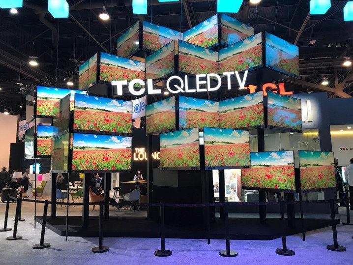 TCL参展2018CES 量子点智能电视、智能音箱齐亮相