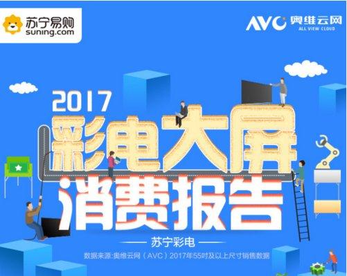 《2017彩电大屏消费报告》发布 电视大屏化趋势明显