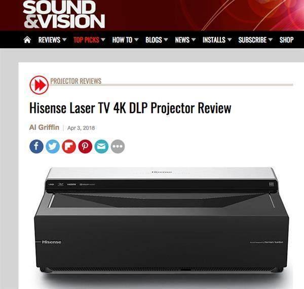 """海信4K激光电视在美国被评选为""""首选产品"""""""