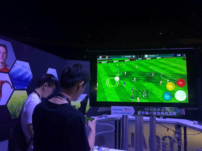 海信成FIFA足球世界手游唯一大屏电视终端合作品牌