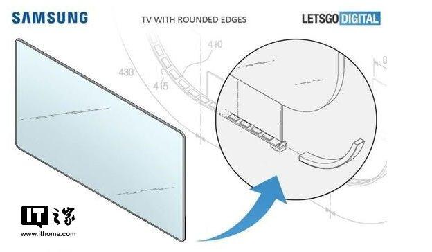 三星新专利曝光 未来或将推圆角边框电视