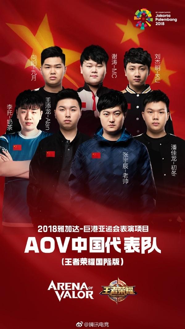 亚运会中国电竞国家队阵容公布!英雄联盟LOL全明星阵容出炉