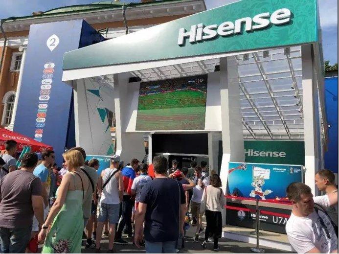 由于赞助世界杯,海信电视国内占有率连续占比超过18%