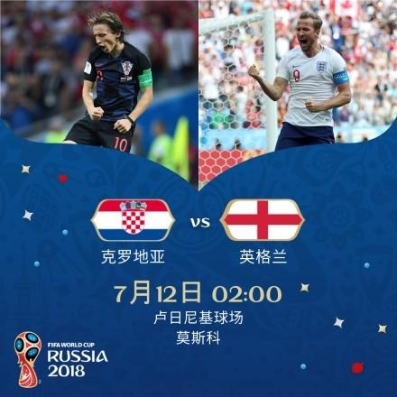 世界杯半决赛:克罗地亚VS英格兰,谁会晋级决赛?