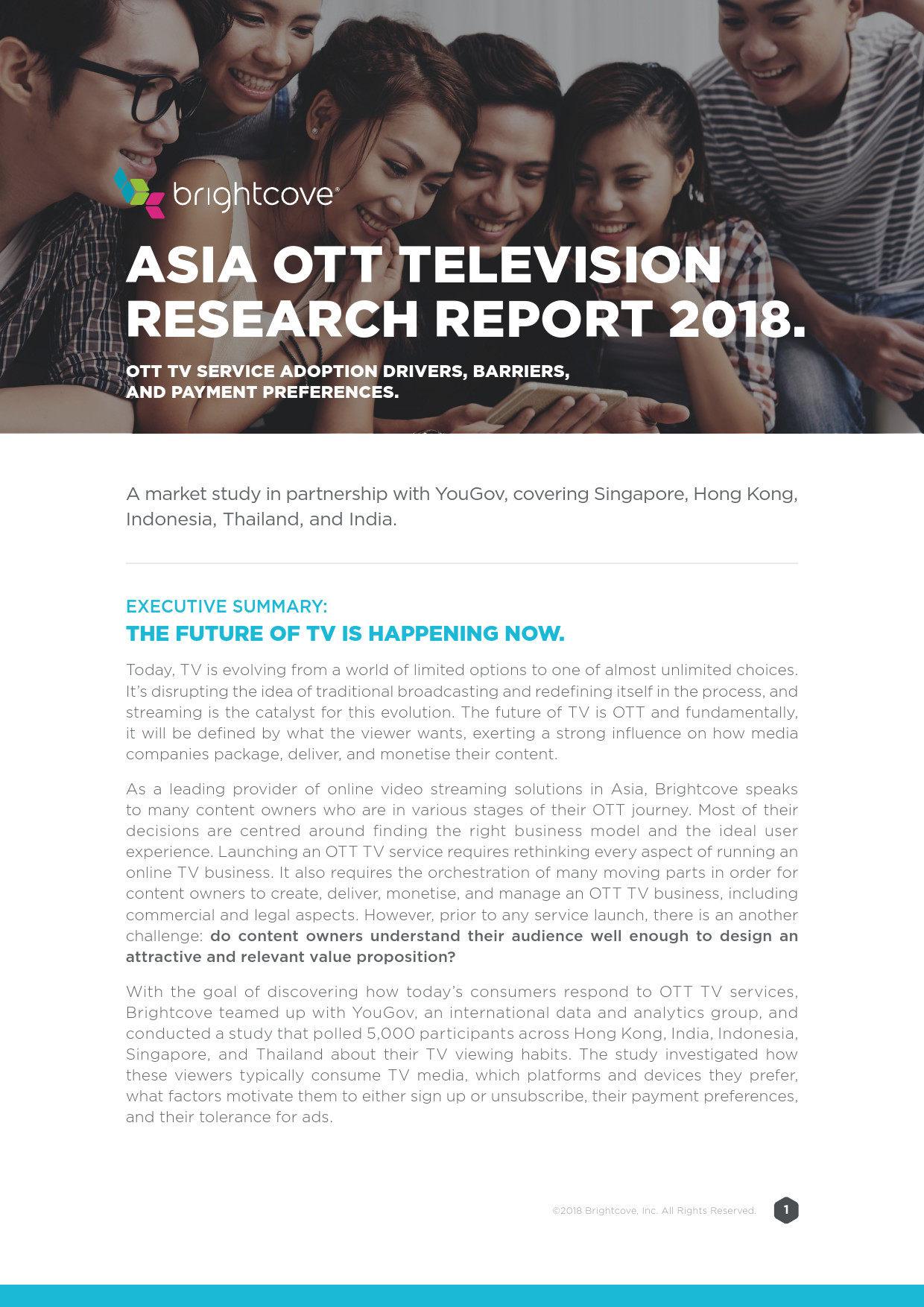2018年亚洲OTT电视报告发布