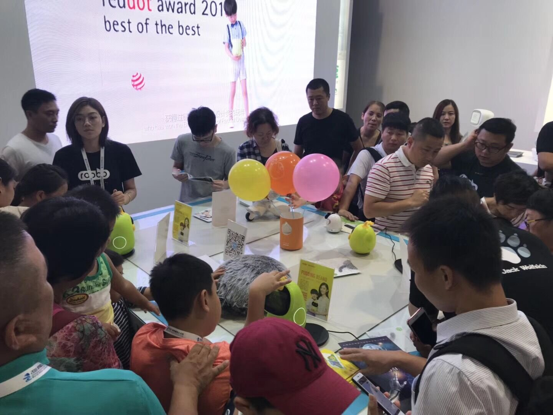 2018世界机器人大会传来喜讯,布丁豆豆荣获售卖区热销榜榜首