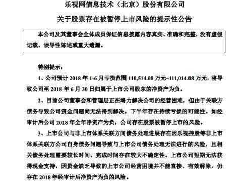 贾跃亭完成了造车梦 乐视网却面临被暂停上市风险