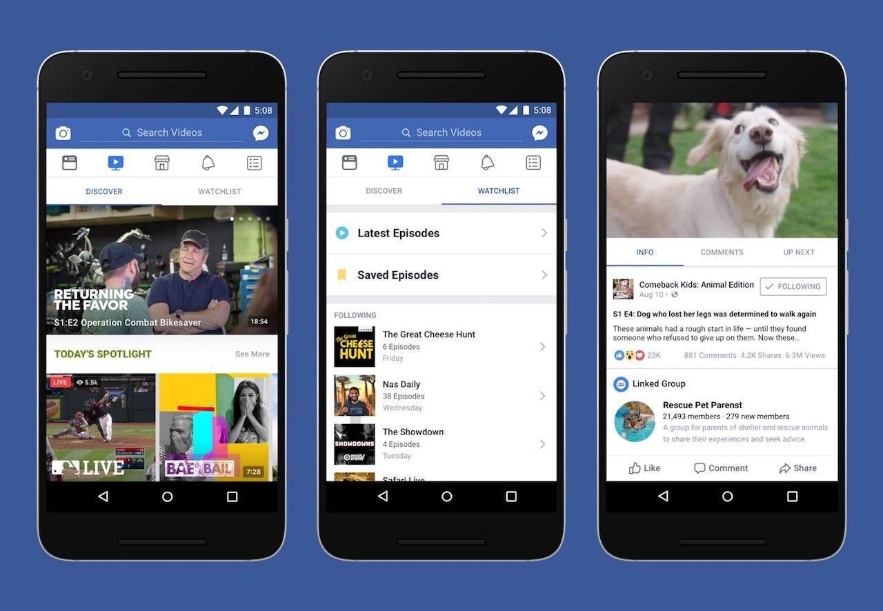 Facebook进军流媒体视频市场,以社交功能为独特优势
