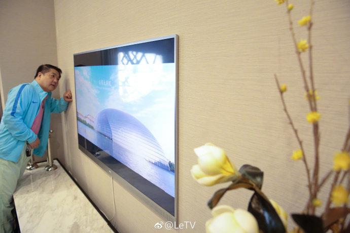 乐视Zero 65电视真机曝光 通体超薄内置Home AI智慧生活系统