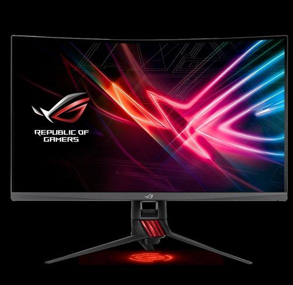 华硕发布ROG XG32VQR曲面显示器:自带RGB
