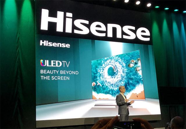 海信CES 2019推最薄液晶电视 三色激光技术压轴亮相
