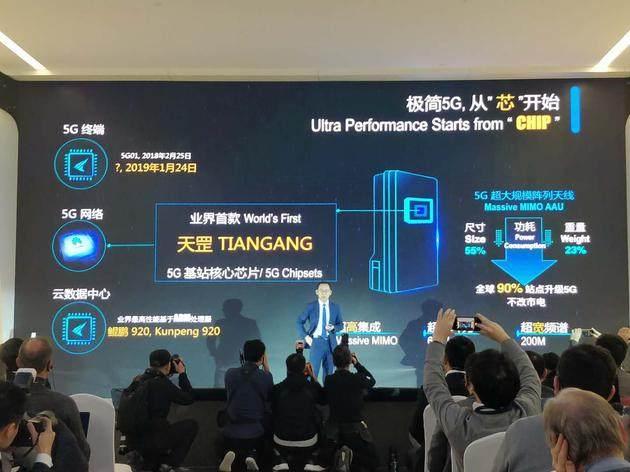 """华为推出业界首款5G基站核心芯片,命名""""天罡芯片"""""""