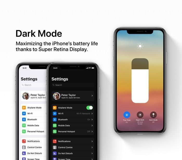 苹果ios13曝光,全新UI风格控制页面