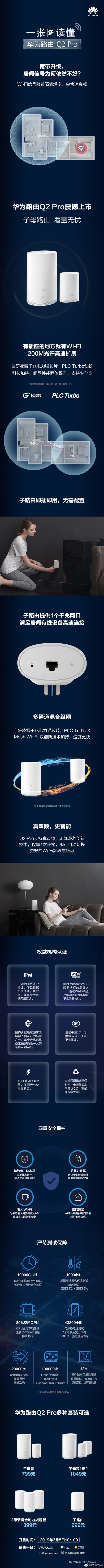 华为路由器Q2 Pro首发,房屋再大都不会影响网络质量