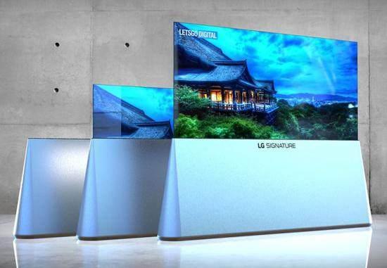 """LG新专利""""易拉宝""""类型电视设计曝光 或将亮相CES 2020"""