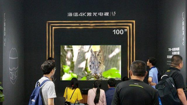 海信100英寸L5系列激光电视新品亮相电博会 配置强悍画音一流