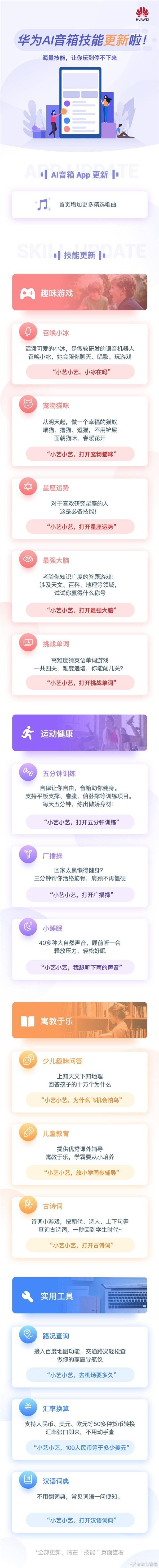 华为AI音箱更新新功能:支持召唤小冰、养猫