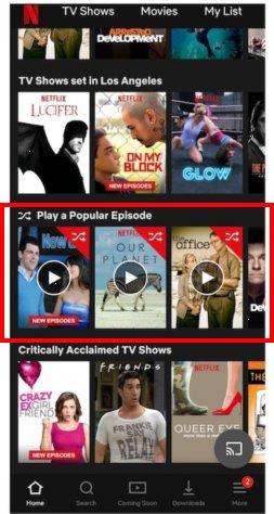 "Netflix正在尝试为智能电视节目加入""随机播放""功能"