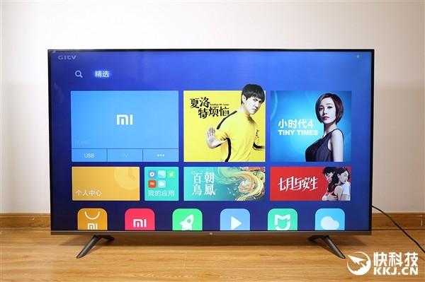 55寸小米全面屏电视外观测评 视觉无边框