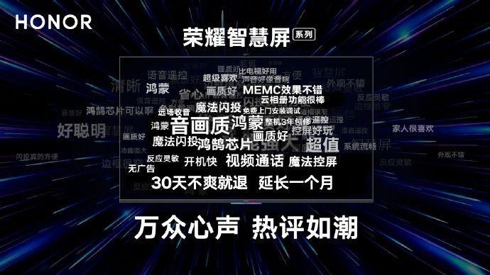 """荣耀智慧屏服务加码 """"30天不爽就退""""延长一个月"""