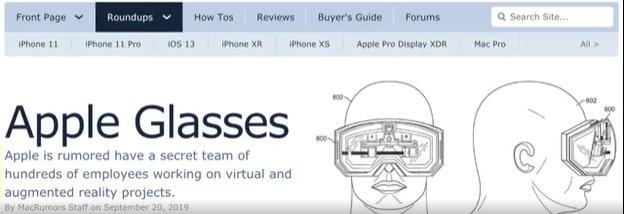 苹果AR头显功能曝光 支持与iPhone无线配对