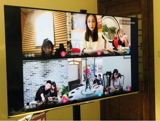 在社交餐厅用海信社交电视S7约火锅是何体验?