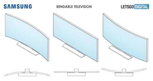 三星电视新专利曝光:屏幕支持前后弯曲,共有三种形态