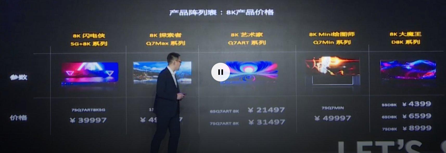 长虹5G+8K全球发布会召开 长虹发布五大系列8K电视