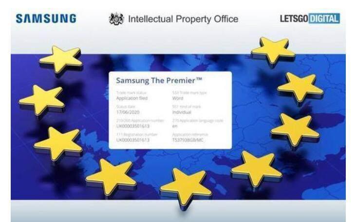 """三星申请电视""""The Premier""""商标 产品类别包含投影机_-_热点资讯-艾德百科网"""