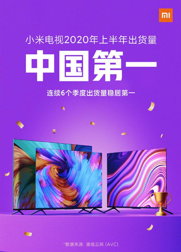 小米电视公布销售数据 2020年上半年出货量中国第一_-_热点资讯-艾德百科网
