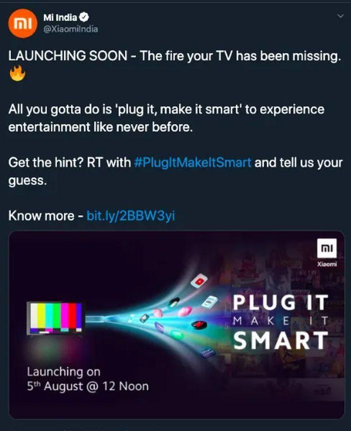 小米电视棒将于8月5日登陆印度市场
