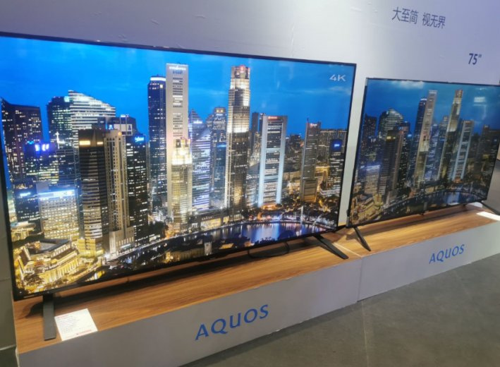 【AWE现场】夏普展出全球最大120英寸8K电视及4K影音方案