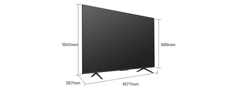 75寸的电视长宽各是多少厘米