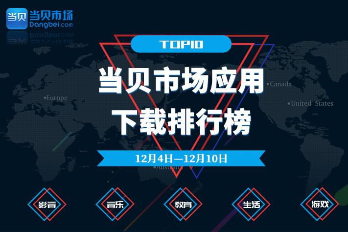 12月4日——12月10日当贝市场应用下载排行榜