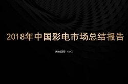 2018年澳门十大博彩娱乐网址彩电市场年度报告:彩电