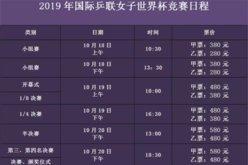 2019女乒世界杯赛程