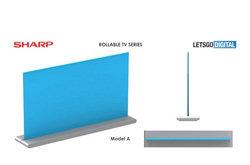 夏普OLED可卷曲电视设计图曝光 将在