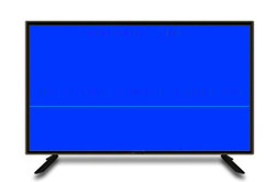 电视上有条横线自
